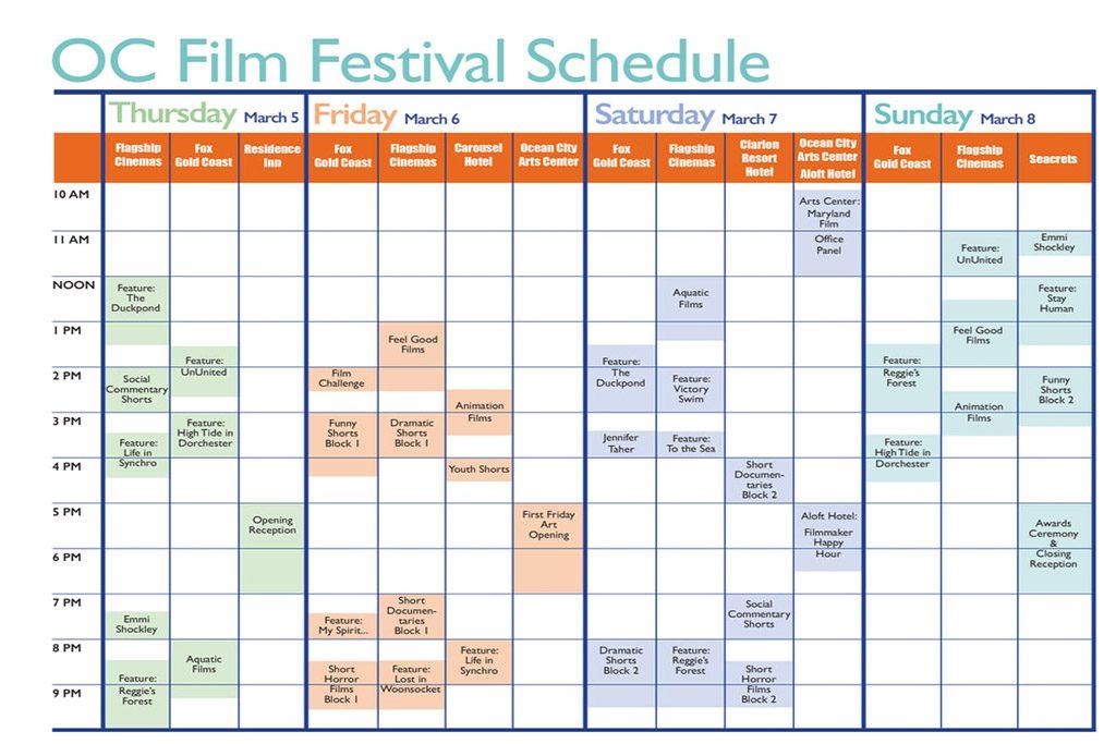 Ocean City Film Festival schedule